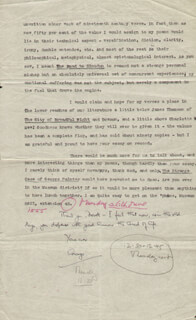 GEORGE D. PAINTER - TYPED LETTER SIGNED 04/29/1952