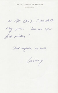 LAWRENCE CLARK POWELL - AUTOGRAPH LETTER SIGNED 07/29/1977