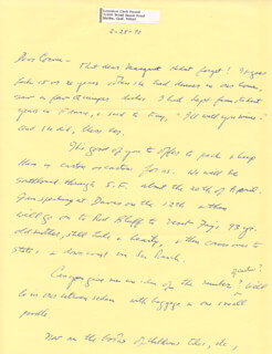 LAWRENCE CLARK POWELL - AUTOGRAPH LETTER SIGNED 02/28/1970