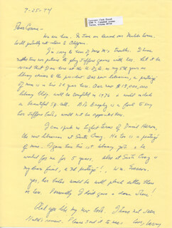 LAWRENCE CLARK POWELL - AUTOGRAPH LETTER SIGNED 07/25/1974