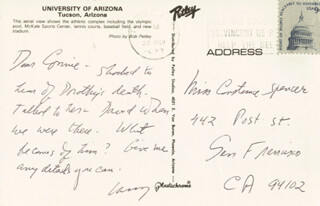 LAWRENCE CLARK POWELL - AUTOGRAPH NOTE SIGNED 05/20/1977