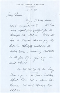 LAWRENCE CLARK POWELL - AUTOGRAPH LETTER SIGNED 10/09/1979