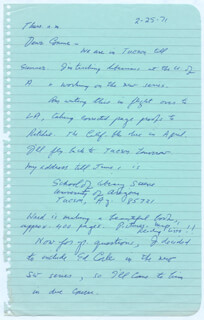 LAWRENCE CLARK POWELL - AUTOGRAPH LETTER SIGNED 02/25/1971