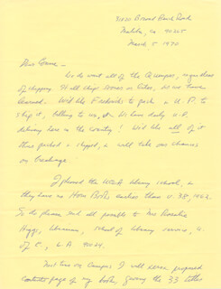 LAWRENCE CLARK POWELL - AUTOGRAPH LETTER SIGNED 03/05/1970