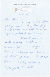 LAWRENCE CLARK POWELL - AUTOGRAPH LETTER SIGNED 02/28/1972