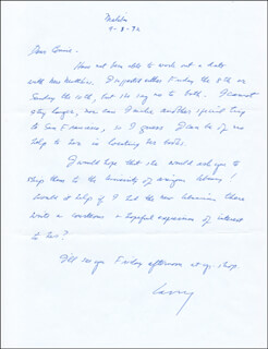 LAWRENCE CLARK POWELL - AUTOGRAPH LETTER SIGNED 09/01/1972