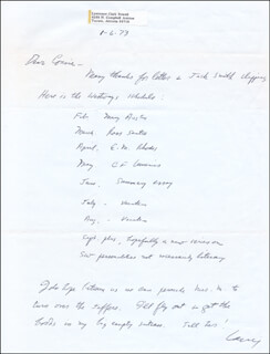 LAWRENCE CLARK POWELL - AUTOGRAPH LETTER SIGNED 01/06/1973