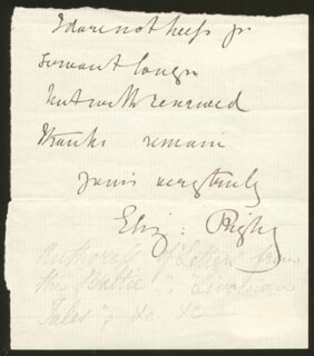 ELIZABETH RIGBY - AUTOGRAPH NOTE SIGNED