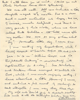 GILBERT THOMAS - AUTOGRAPH LETTER SIGNED 06/19/1934
