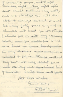 GILBERT THOMAS - AUTOGRAPH LETTER SIGNED 10/12/1932