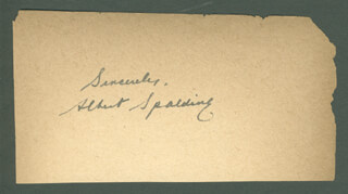 ALBERT SPALDING - AUTOGRAPH SENTIMENT SIGNED