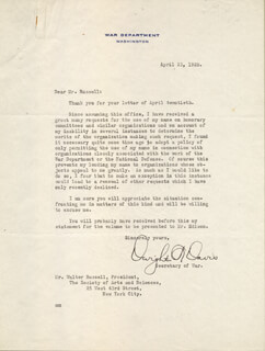 Autographs: DWIGHT F. DAVIS - TYPED LETTER SIGNED 04/23/1928
