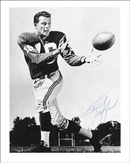 FRANK GIFFORD - AUTOGRAPHED SIGNED PHOTOGRAPH