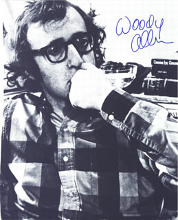 WOODY ALLEN - MAGAZINE PHOTOGRAPH SIGNED