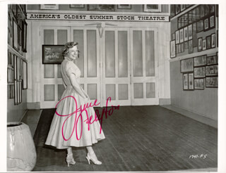 JUNE ALLYSON - AUTOGRAPHED SIGNED PHOTOGRAPH