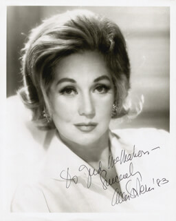 ANN SOTHERN - AUTOGRAPHED INSCRIBED PHOTOGRAPH 1983