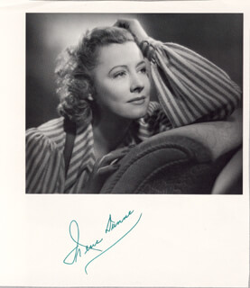 IRENE DUNNE - MAGAZINE PHOTOGRAPH SIGNED