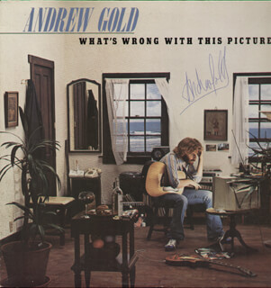 ANDREW GOLD - RECORD ALBUM COVER SIGNED