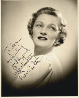 Autographs: IRENE CASTLE - INSCRIBED PHOTOGRAPH SIGNED