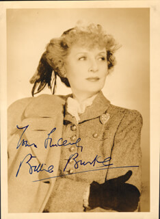 BILLIE BURKE - AUTOGRAPHED SIGNED PHOTOGRAPH