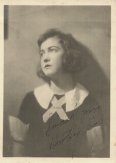 DOROTHY GISH - AUTOGRAPHED SIGNED PHOTOGRAPH