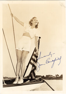 JOAN CAULFIELD - AUTOGRAPHED SIGNED PHOTOGRAPH