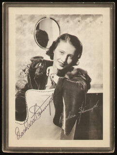 BARBARA STANWYCK - MAGAZINE PHOTOGRAPH SIGNED