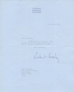 ROBERT MORLEY - TYPED LETTER SIGNED 07/20/1971