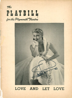 GINGER ROGERS - SHOW BILL SIGNED
