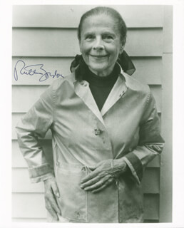 RUTH GORDON - AUTOGRAPHED SIGNED PHOTOGRAPH