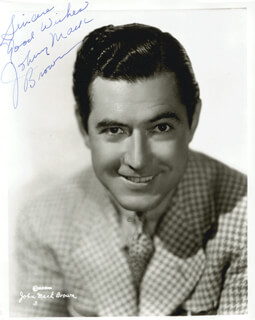 JOHNNY MACK BROWN - AUTOGRAPHED SIGNED PHOTOGRAPH