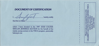 AMY GRANT - RECEIPT SIGNED