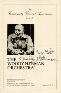 WOODY HERMAN - PROGRAM SIGNED