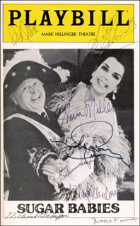 SUGAR BABIES BROADWAY CAST - SHOW BILL SIGNED CO-SIGNED BY: MICKEY ROONEY, ANN MILLER