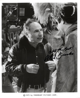 MEL BROOKS - AUTOGRAPHED SIGNED PHOTOGRAPH