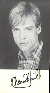 MARK HAMILL - AUTOGRAPHED SIGNED PHOTOGRAPH  - HFSID 74460