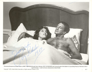 ROY SCHEIDER - AUTOGRAPHED SIGNED PHOTOGRAPH 1987