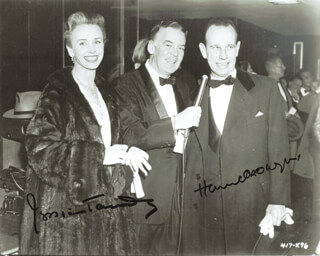 HUME CRONYN - AUTOGRAPHED SIGNED PHOTOGRAPH CO-SIGNED BY: JESSICA TANDY