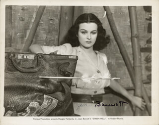 JOAN BENNETT - AUTOGRAPHED SIGNED PHOTOGRAPH