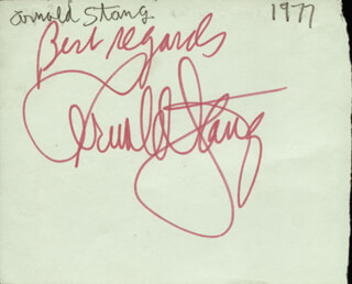 ARNOLD STANG - AUTOGRAPH CIRCA 1977 CO-SIGNED BY: DON SAXON