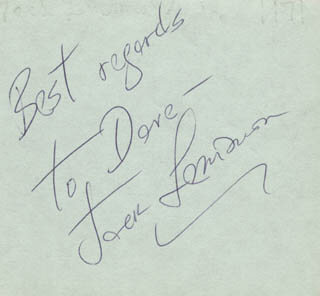 JACK LEMMON - INSCRIBED SIGNATURE CO-SIGNED BY: STEVE ALLEN