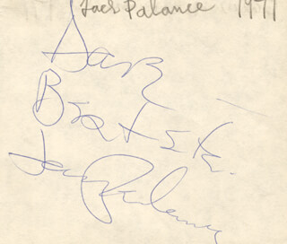 JACK PALANCE - INSCRIBED SIGNATURE CIRCA 1971 CO-SIGNED BY: MARY McKENNEDY