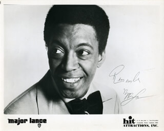 MAJOR LANCE - AUTOGRAPHED SIGNED PHOTOGRAPH
