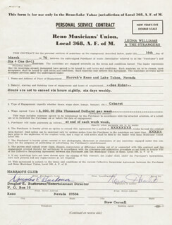 NORM HAMLET - CONTRACT DOUBLE SIGNED 03/16/1976 CO-SIGNED BY: DOUGLAS EARL BUSHOUSEN
