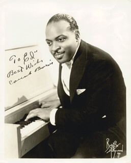 COUNT BASIE - AUTOGRAPHED INSCRIBED PHOTOGRAPH