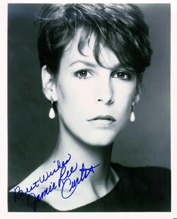 JAMIE LEE CURTIS - AUTOGRAPHED SIGNED PHOTOGRAPH