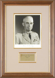 GENERAL OMAR N. BRADLEY - AUTOGRAPHED SIGNED PHOTOGRAPH