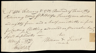 Autographs: GENERAL TIMOTHY PICKERING - AUTOGRAPH DOCUMENT SIGNED 02/08/1783 CO-SIGNED BY: PETER ANSPACH