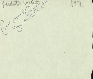 WALTER KERR - AUTOGRAPH SENTIMENT SIGNED CO-SIGNED BY: JUDITH CRIST