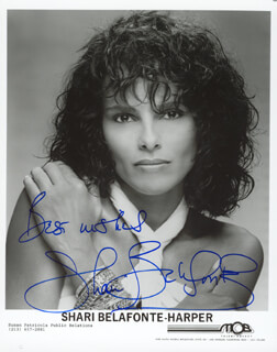 Autographs: SHARI BELAFONTE - PHOTOGRAPH SIGNED
